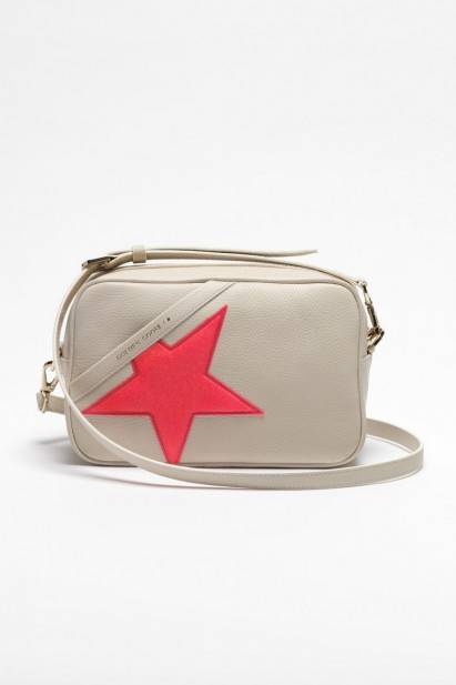 Golden Goose Hammered Star Bag in White/Fuxia